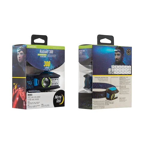 Radiant® 300 Rechargeable Headlamp
