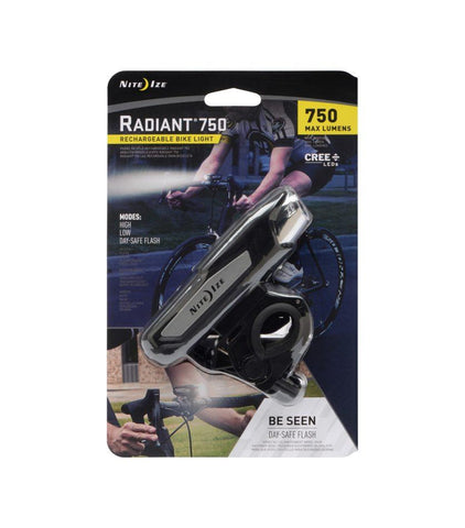 Radiant® 750 Pro Rechargeable Bike Light - neiteizeify