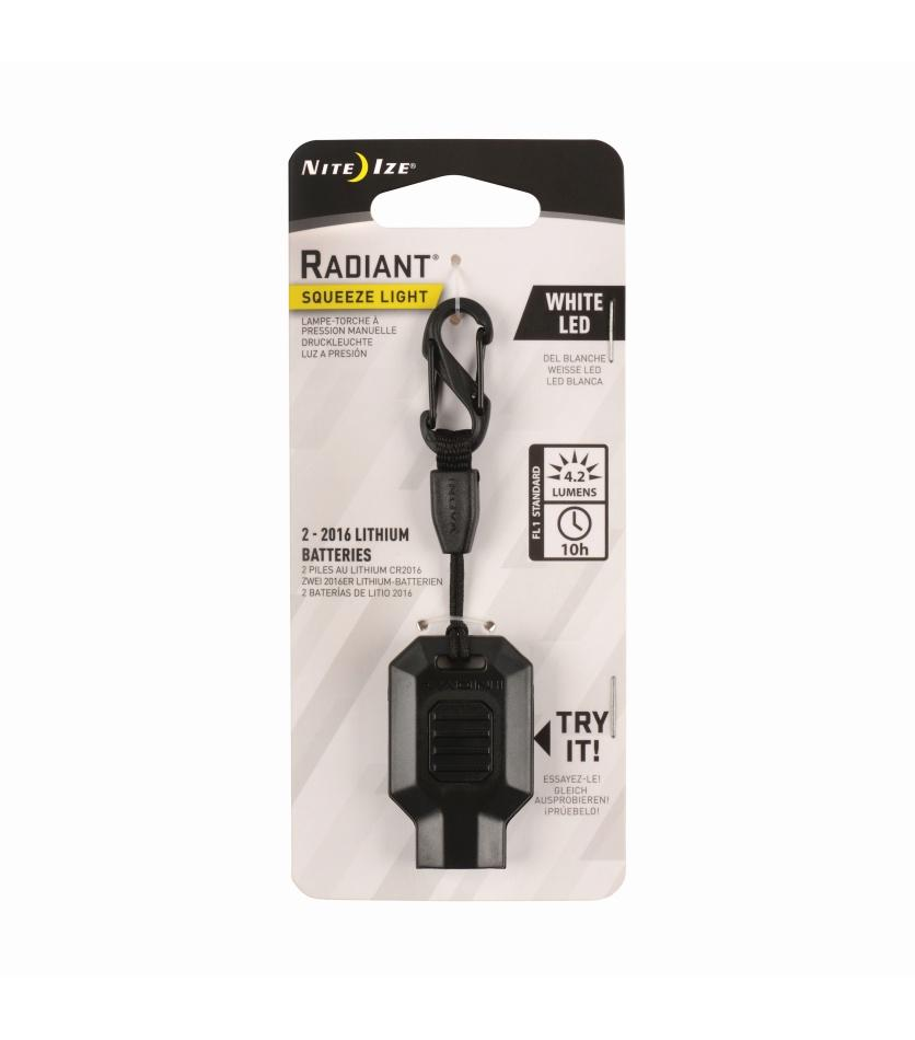 Radiant® Squeeze Light LED Key Chain Light
