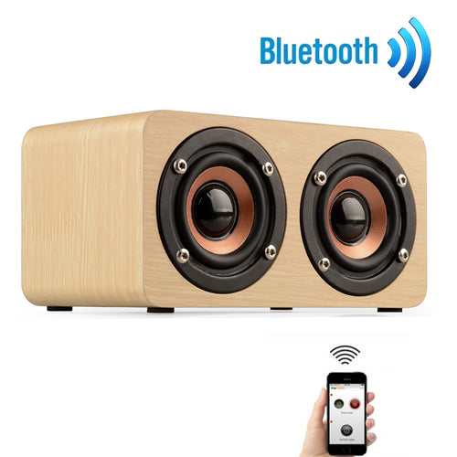 High End Wooden Portable Bluetooth Speaker