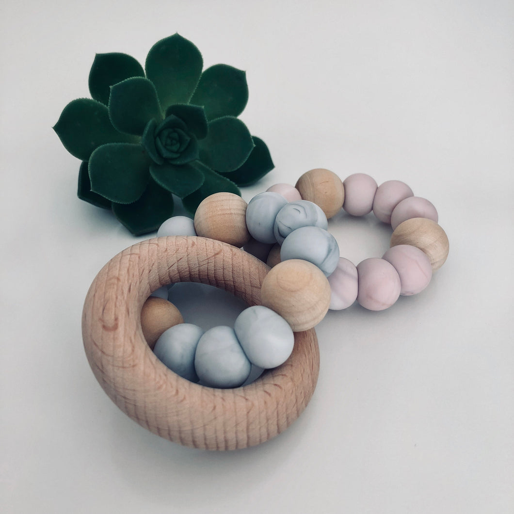 Teething Ring with Beech Wood Teether