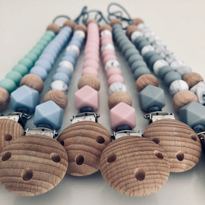 Geometric Mini Dummy/Soother Chain