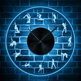 Horloge Led <br> Pole Dance - Mon Horloge