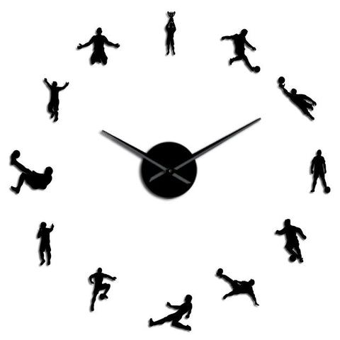 Horloge Stickers Muraux Football