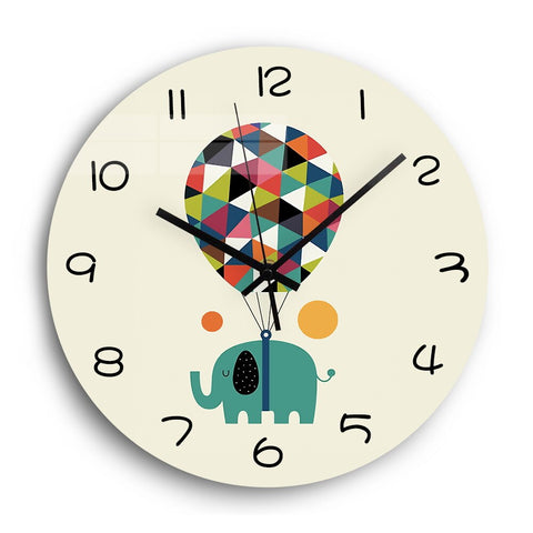 Horloge Enfant Animal <br> Elephant - Mon Horloge