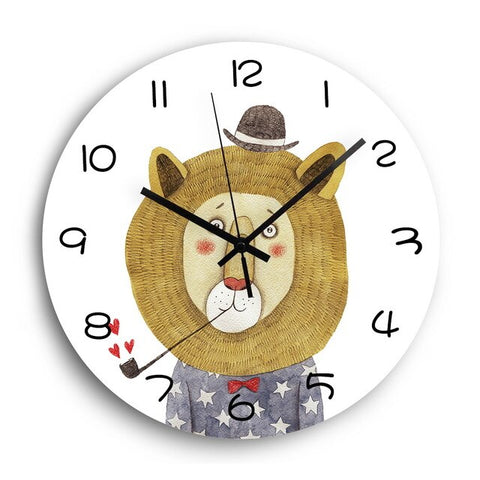 Horloge Enfant Animal <br> Lion Classe - Mon Horloge
