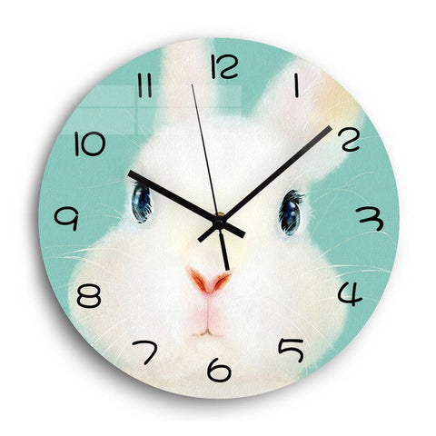Lovely Animals Silent Acrylic Digital Wall Clock for Children's Room Decor 12'' 3D Wall Clocks Modern Design Home Decor Gift - Mon Horloge