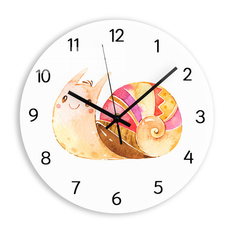 Horloge Murale Enfant Escargot Souriant