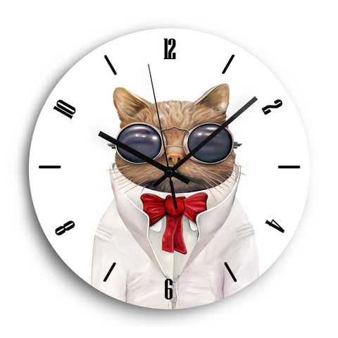 Horloge Enfant Animal <br> Chat Cartoon - Mon Horloge