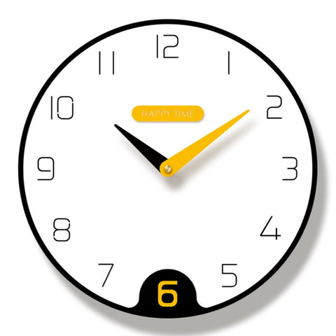 Horloge Moderne Yellow Touch