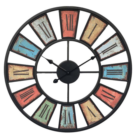 Horloge Industrielle Multicolore