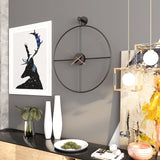 Grande Horloge Industrielle Arc Simple Design
