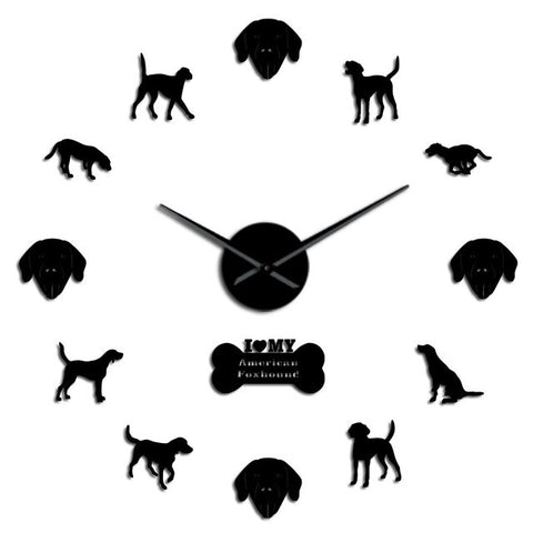 Horloge Sticker mural Foxhound Américain