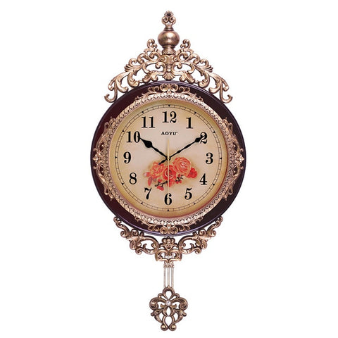 Horloge Vintage <br> Design Marron Antique