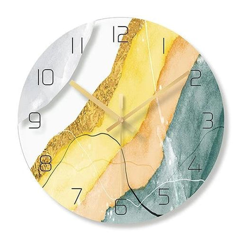 Horloge Scandinave Marbré Sable Coloré