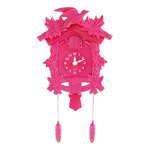 Horloge Coucou Pendule Chalet Nature Rose
