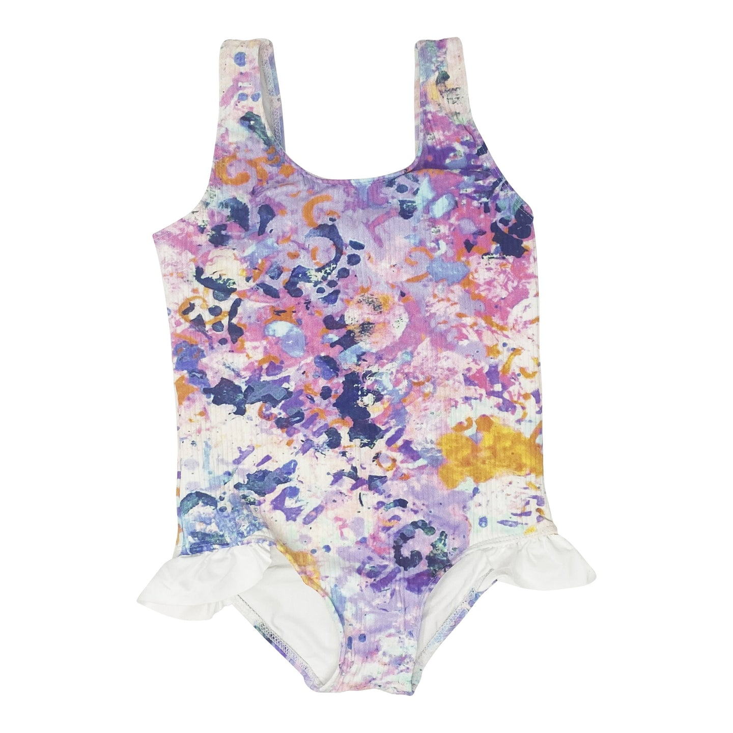 Ashlyn girls one piece in Aquarelle