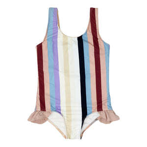 Ashlyn girls one piece in Cali Stripe