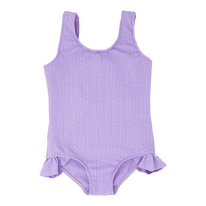 Ashlyn girls one piece in Lavender Texture