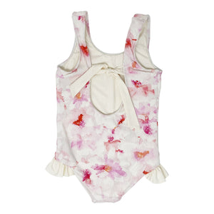 Ashlyn girls one piece in Pink Floral