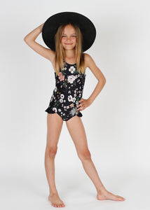 Ashlyn girls one piece in Cali Floral