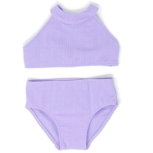 Load image into Gallery viewer, Caya girls bikini in Lavender Texture