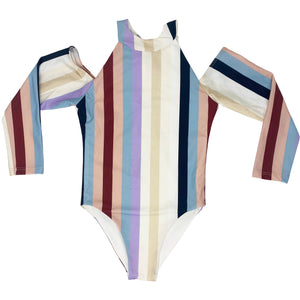 Delta girls one piece in Cali Stripe
