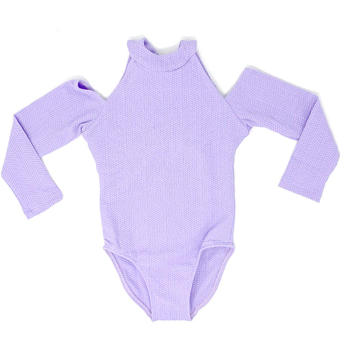 Delta girls one piece in Lavender Texture