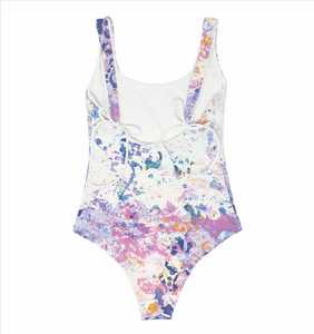 Hadlee womens one-piece in Aquarelle