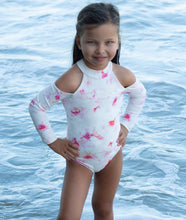 Load image into Gallery viewer, Delta girls one piece in Pink Floral