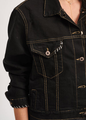 Free x Black Denim Jacket