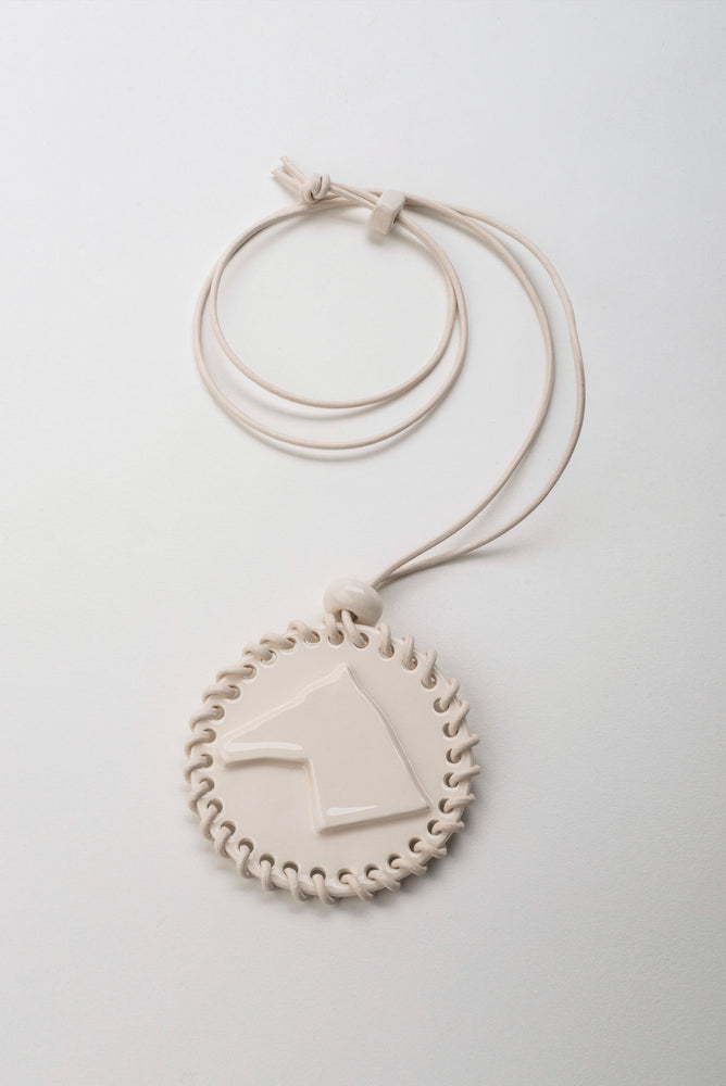 Load image into Gallery viewer, Horse Embossed Circular Pendant
