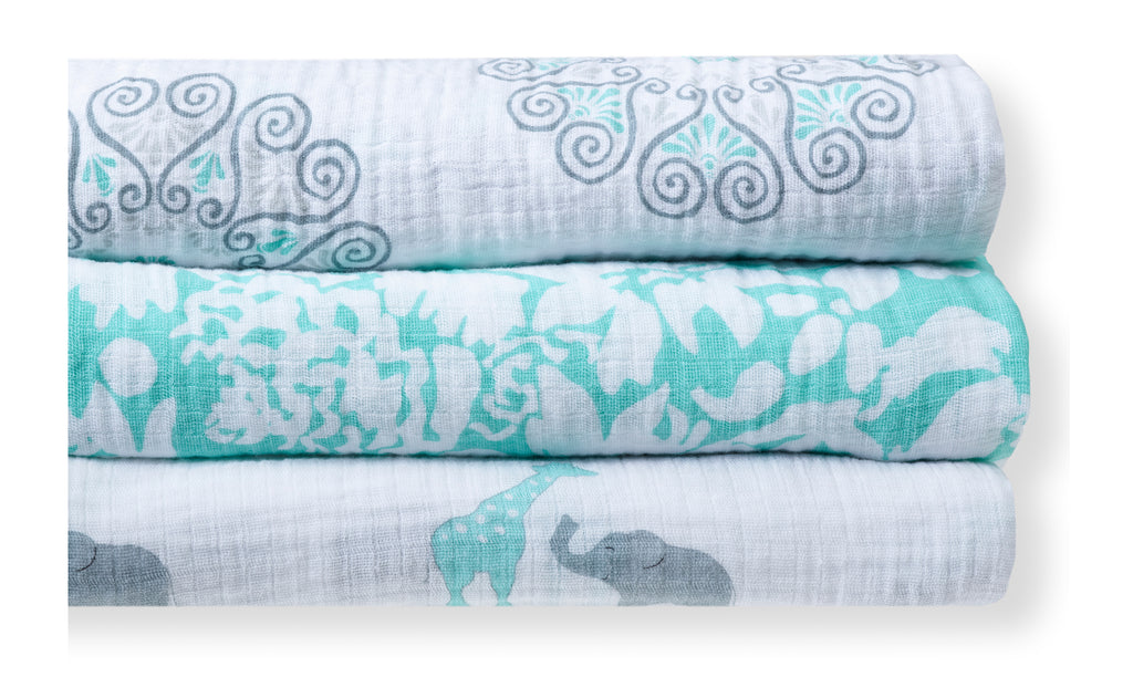 Marquisette and Muslin Swaddle Blankets