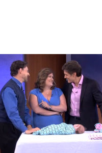 Dr. Karp and Dr. Oz with Marquisette Swaddle Blanket
