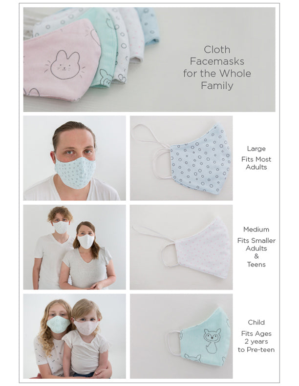 Facemasks for the whole family