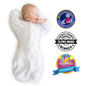Small Amazing Baby Transitional Swaddle Sack with Arms Up Half-Length Sleeves and Mitten Cuffs Tiny Bows 0-3 Months Parents/' Picks Award Winner Pink