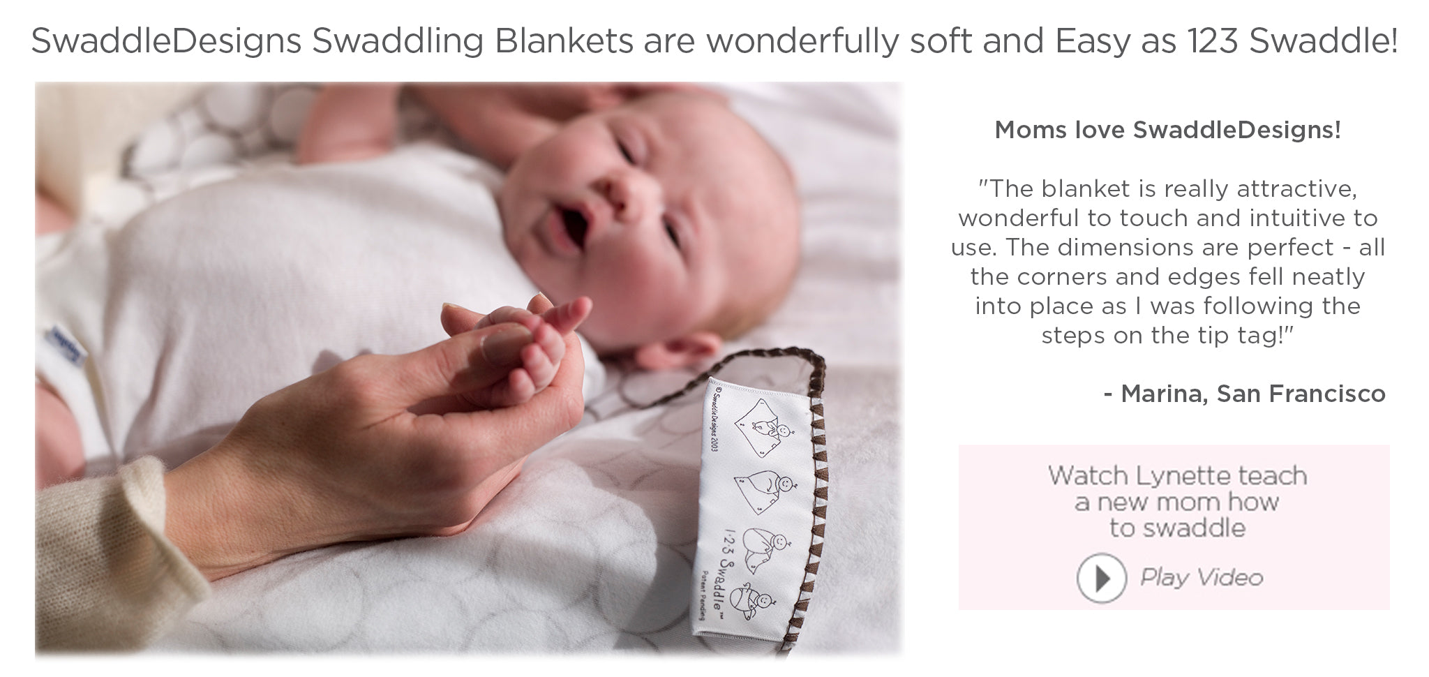 Lynette Damir Teaches a New Mom How to Swaddle