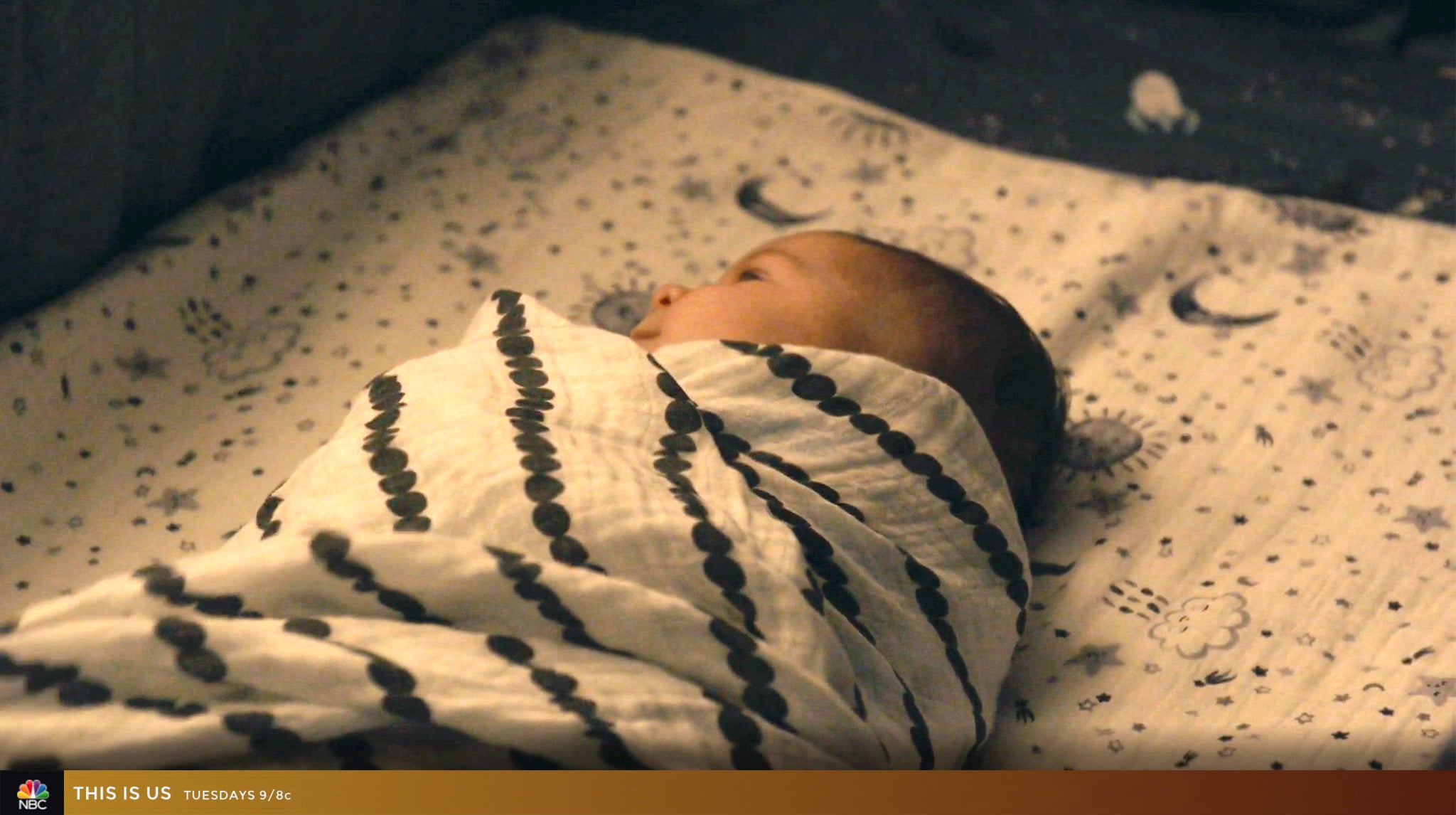 SwaddleDesigns Bumpkin Muslin Swaddle on NBC This Is Us