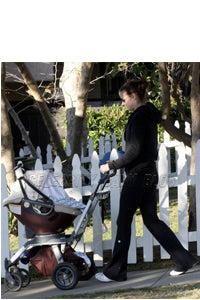 Bridget Moynahan with Ultimate Swaddle Blanket