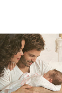 David Charvet and Brooke Burke with Ultimate Swaddle Blanket