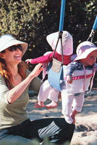 Marcia Cross with Baby Burpie