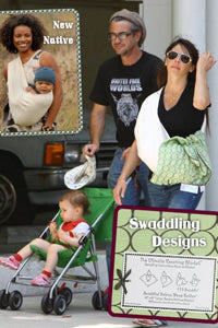 Dermot Mulroney & Tharita Catulle with Ultimate Swaddle Blanket