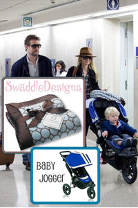 Anne Heche with Stroller Blanket