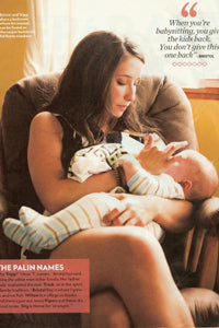 Bristol Palin with Baby Burpie