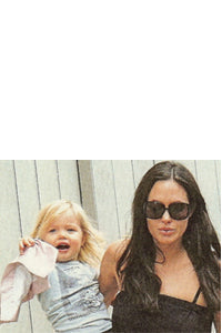 Angelina Jolie and Shiloh Jolie Pitt with Baby Lovie