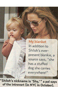 Angelina Jolie and Shiloh Jolie Pitt wth Baby Lovie