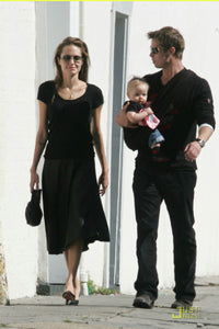 Brad Pitt, Angelina Jolie & Shiloh with Baby Lovie