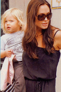 Angelina Jolie & Shiloh Jolie Pitt with Baby Lovie