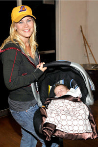 Alison Sweeney with Stroller Blanket