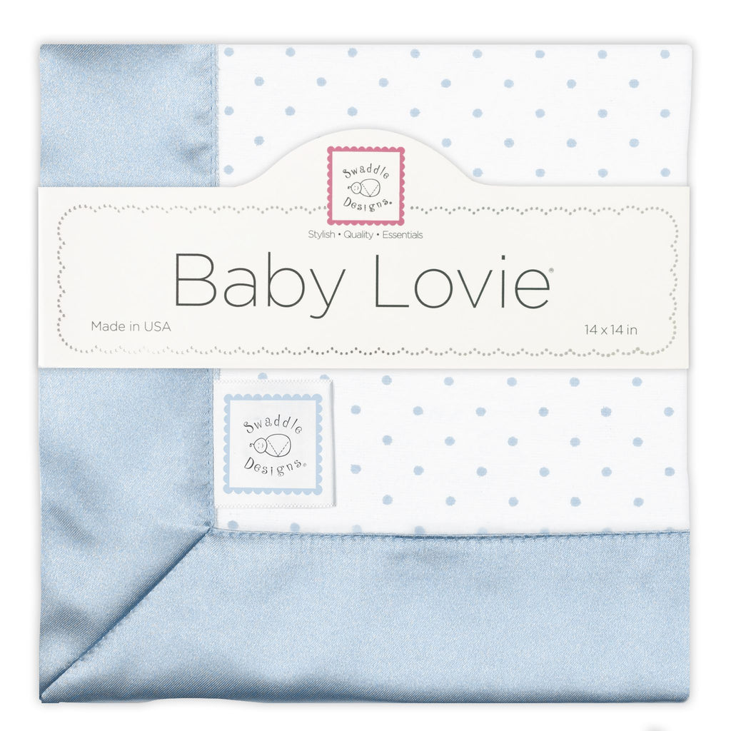 Cotton Baby Lovie - Polka Dots, Pastel Blue